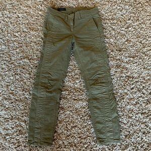 J crew army green khaki utility pants 25